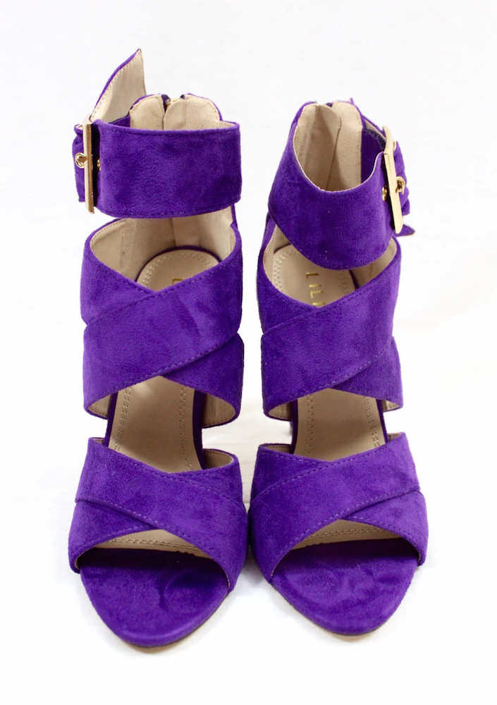 ee1379529 BackBack HomeAllShoesOpen Toe Heels Barbara Purple Strappy Stiletto High  Heel Sandals. barbara51-purple-1. Click ...